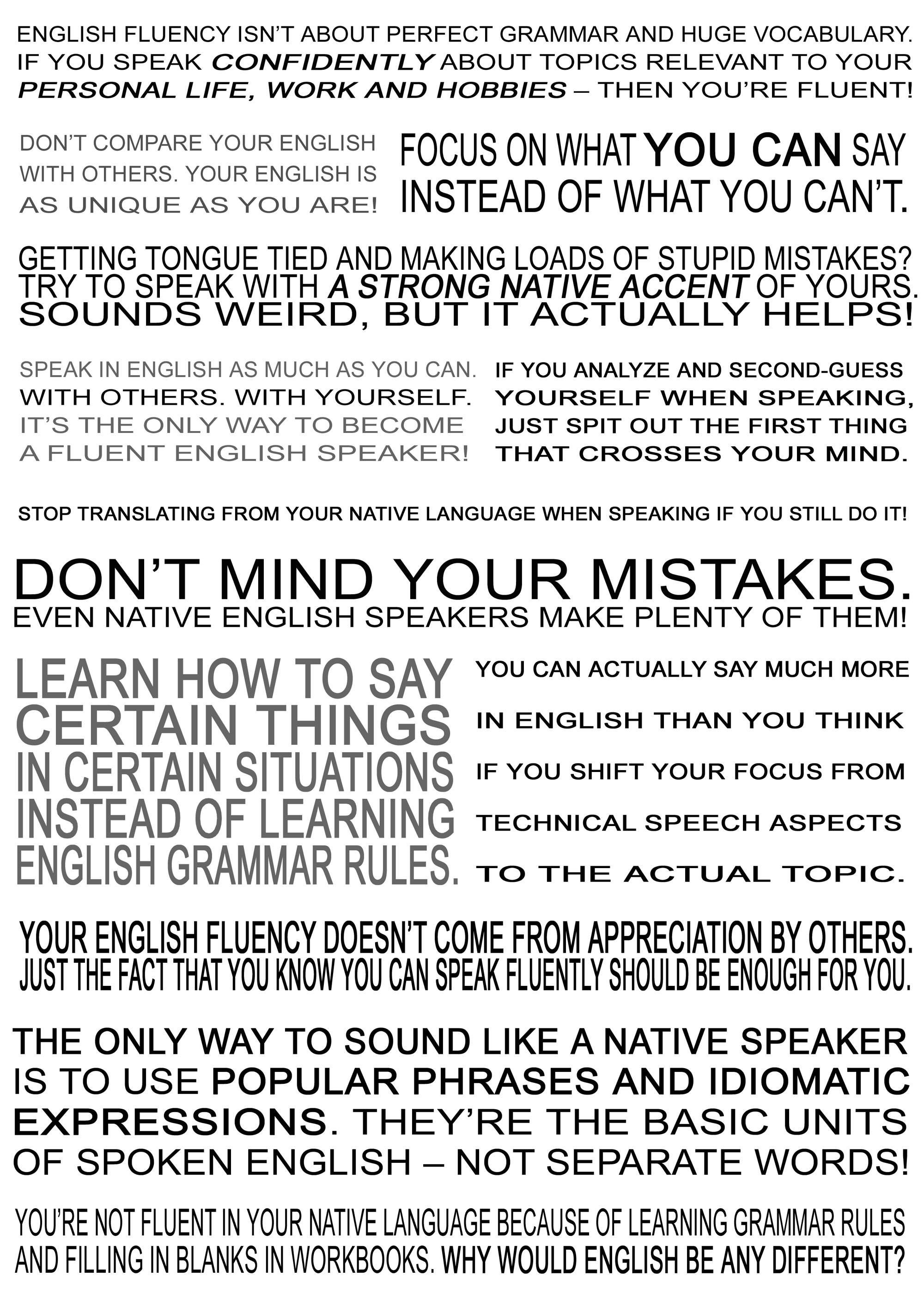 Print This Poster to Motivate Yourself to Improve Your English ...