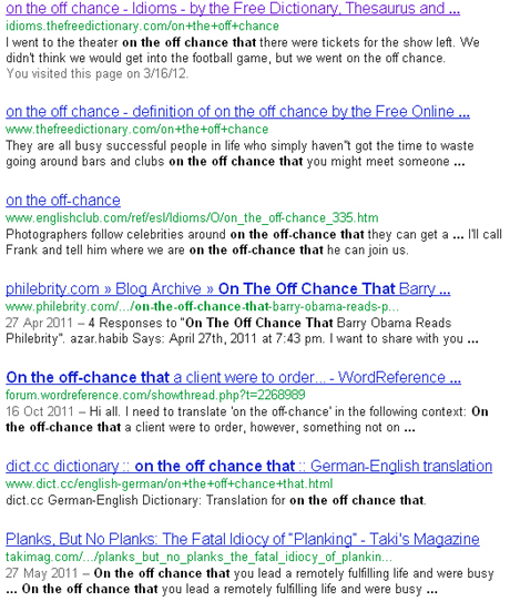 Using Google to find the rigt English words