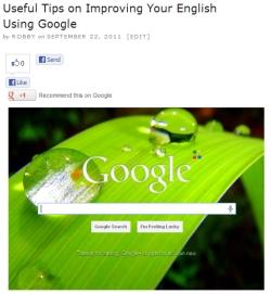 Use Google to improve English