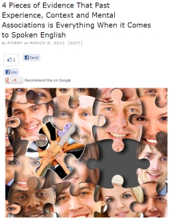 Mental associations and English