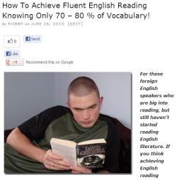 Fluent English reading