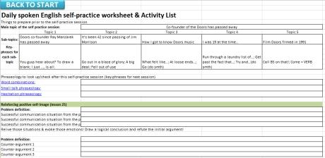 FGC Goal Phrases 25 - 38 Activity Sheet
