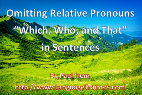 Omitting English Relative Pronouns