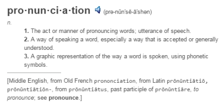 pronunciation english words