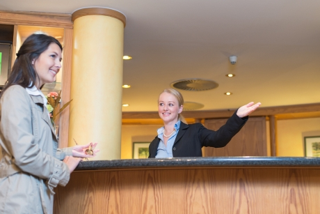 English phrases for the receptionist's position