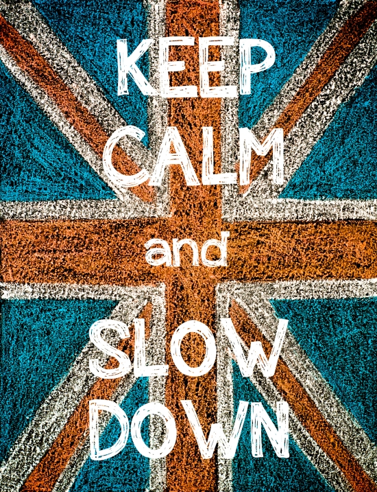 Solution: Simply Slow Down!