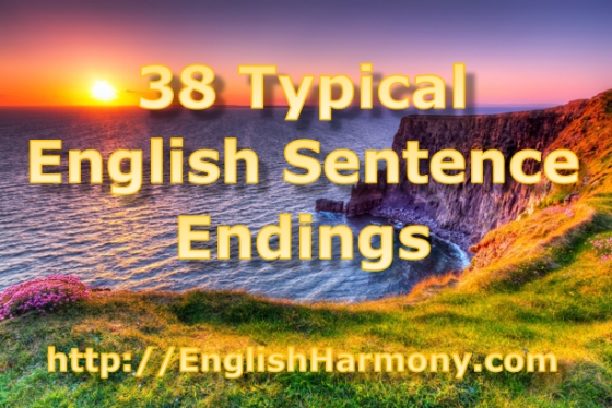 English sentence endings