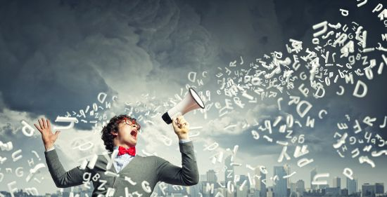 Speaking really loud helps to get your English fluency back